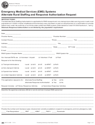 Form IOCI 14-322 Emergency Medical Services (Ems) Systems Alternate Rural Staffing and Response Authorization Request - Illinois