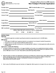"Form IOCI16-60 ""Emergency Medical Services (EMS) Systems Non-transport Provider Application"" - Illinois"
