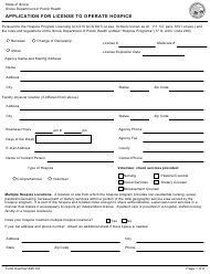 Form 445101 Application for License to Operate Hospice - Illinois