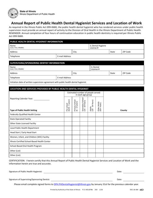 Form IOCI18-384  Printable Pdf