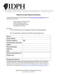 """Medical Cannabis Dispensary Selection Form"" - Illinois"