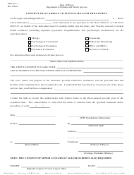 Form CFS 431-1 Consent of Guardian to Mental Health Treatment - Illinois