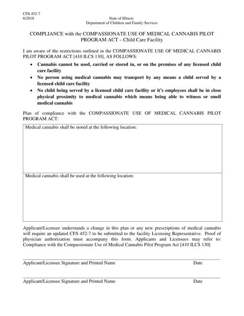 Form CFS452-7 Printable Pdf
