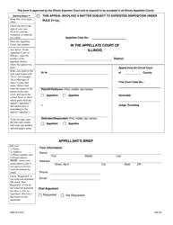 "Form ABA-B2103.1 ""Appellant's Brief"" - Illinois"
