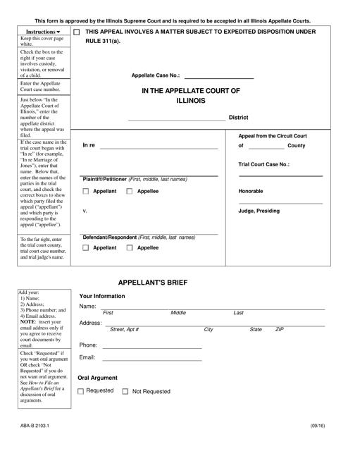 Form ABA-B2103.1  Printable Pdf