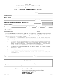 Form MP-07 Reclamation Approval Request - Iowa