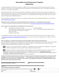 Renewable Fuel Infrastructure Program Application Form - Iowa