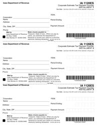 """Form 45-004 (IA1120ES) """"Corporate Estimate Tax Payment Voucher"""" - Iowa"""