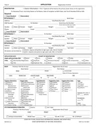 DNR Form 542-8067 Iowa Application for Boat-Snow-Atv Registration - Iowa
