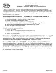DNR Form 542-0108 Exhibit 9b - Preliminary Review of Facility Plan Checklist - Iowa