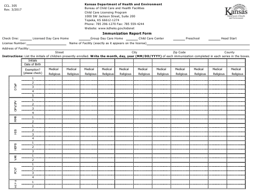 Form CCL.305  Printable Pdf