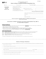 "Form WP-1 ""Return for Water Protection and Clean Drinking Water Fees"" - Kansas"