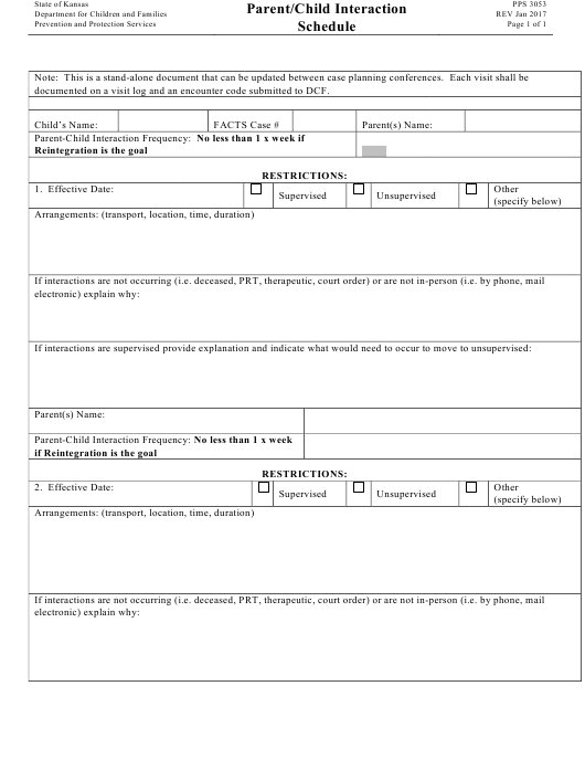 Form Pps 3053 Download Printable Pdf Parent Child Interaction