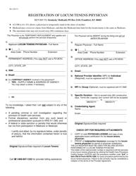 """Registration of Locum Tenens Physician"" - Kentucky"