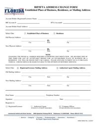 "Form HSMV85041 ""Irp/Ifta Address Change Form"" - Florida"