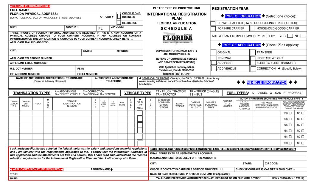 Form HSMV85900  Printable Pdf
