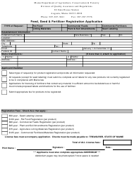 """Feed, Seed & Fertilizer Registration Application Form"" - Maine"