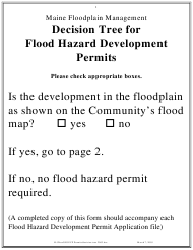 """Decision Tree for Flood Hazard Development Permits"" - Maine"