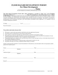 """""""Flood Hazard Development Permit for Minor Development"""" - Maine"""