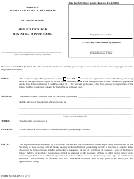 "Form MLLP-2 ""Application for Registration of Name"" - Maine"