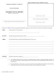 """Form MLLC-13A """"Amended Annual Report (Maine or Foreign LLC)"""" - Maine"""