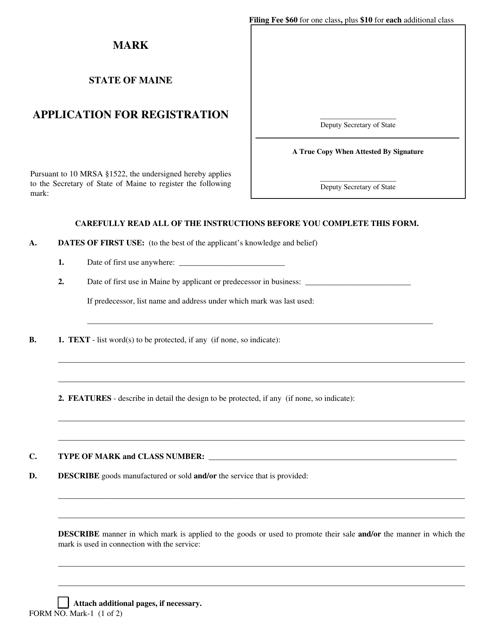 Form MARK-1  Printable Pdf
