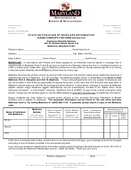 """State Notification of Medicare Information"" - Maryland"