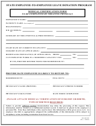 "Form MS402-EE ""Medical Certification Form"" - Maryland"