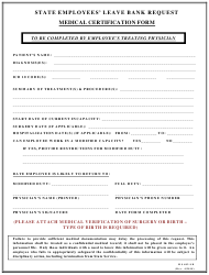 "Form MS402-LB ""Leave Bank Medical Certification Form"" - Maryland"