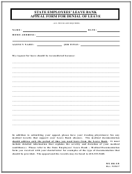"Form MS406-LB ""Appeal Form for Denial of Leave - State Employees' Leave Bank"" - Maryland"