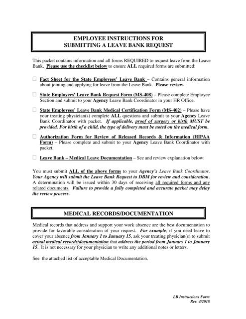 Form MS 408 Printable Pdf