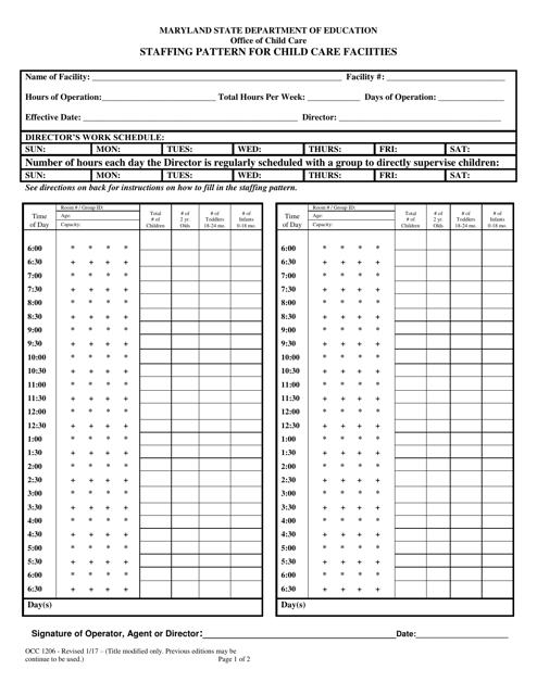 Form OCC1206  Printable Pdf