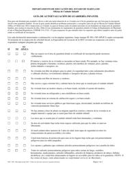 """Formulario OCC1295 """"Guia De Autoevaluacion De Guarderia Infantil"""" - Maryland (Spanish)"""