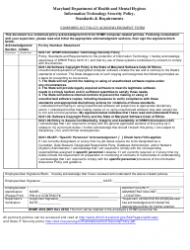 Form DHMH 4518 Combined Oit Policy Acknowledgment Form - Maryland
