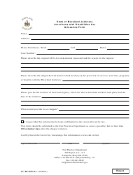 Form CC-DC-050 Americans With Disabilities Act Grievance Form - Maryland