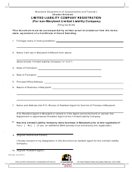 Limited Liability Company Registration Form (For Non-maryland Limited Liability Company) - Maryland
