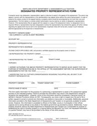 Designated Property Representative Form - Maryland