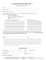 """Form RP-ADM-ACC-01 """"Assessment Worksheet Request Form"""" - Maryland"""