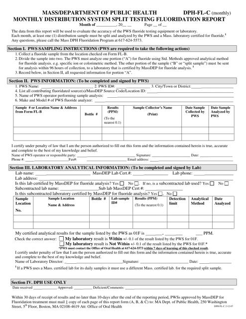 Form DPH-FL-C  Printable Pdf