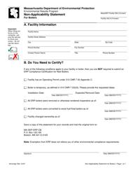 """Non-applicability Statement for Boilers"" - Massachusetts"