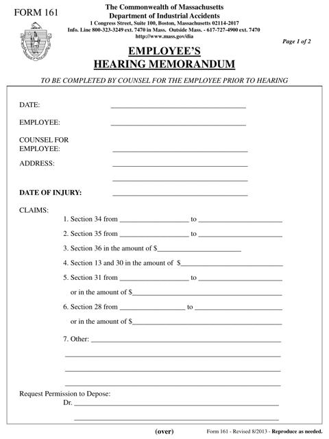 Form 161 Printable Pdf