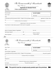 "Form FP-006 ""Application for Standard Permit"" - Massachusetts"