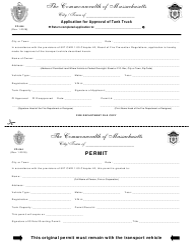 "Form FP-044 ""Application for Approval of Tank Truck"" - Massachusetts"