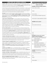 """Formulario FHR-1 (ES) """"Formulario De Peticion De Audiencia Imparcial"""" - Massachusetts (Spanish)"""