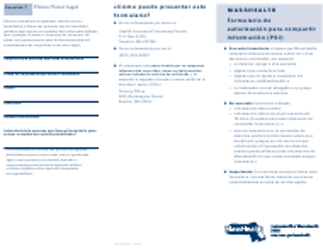 "Formulario PSI (SP) ""Formulario De Autorizacion Para Compartir Informacion (Psi)"" - Massachusetts (Spanish)"