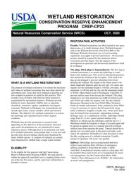 """Form CP-23 """"Wetland Restoration Design Worksheet"""" - Michigan"""