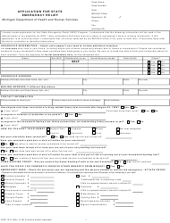 """Form DHS-1514 """"Application for State Emergency Relief"""" - Michigan"""