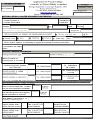 Form BFS-980 Application for Private College, University or School Safety Inspection - Michigan