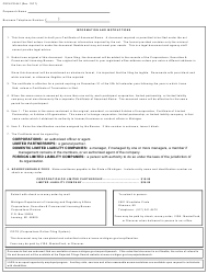 "Form CSCL/CD-541 ""Certificate of Assumed Name for Use by Corporations, Limited Partnerships and Limited Liability Companies"" - Michigan, Page 2"