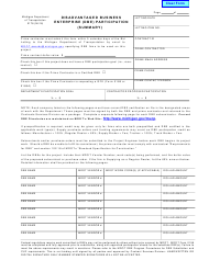"Form 0178 ""Disadvantaged Business Enterprise (Dbe) Participation (Summary)"" - Michigan"